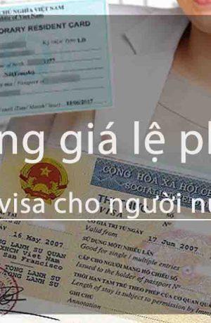Bảng lệ phí gia hạn visa Việt Nam cho người nước ngoài ở Việt Nam