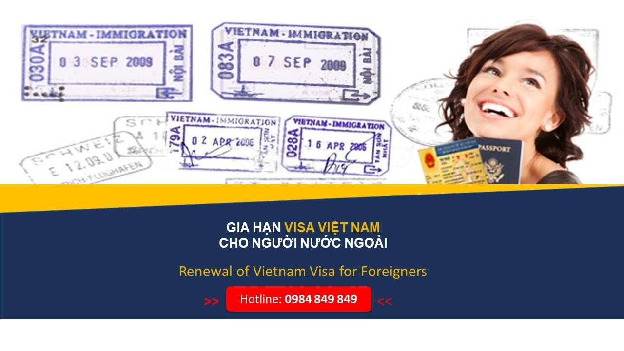 Gia hạn visa Việt Nam cho người nước ngoài