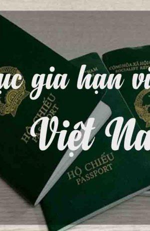 Thủ tục gia hạn visa ở Việt Nam